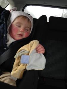 Ma petite Peau-Rouge endormie...