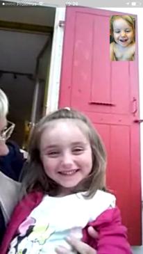Le direct vidéo entre Poupette et BébéCha, un grand moment !